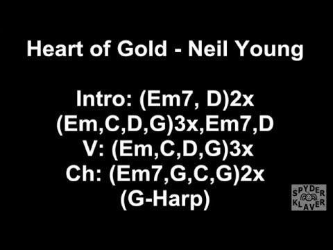 Heart of Gold - Neil Young - Lyrics - Chords - YouTube