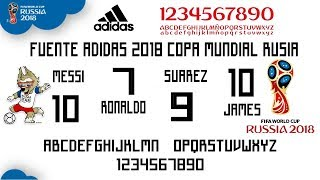 solamente Enderezar puede  Fuentes Adidas Copa Mundial Rusia 2018 | Fonts Rusia 2018 - YouTube