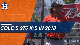 Gerrit Cole K's 276 batters in 2018