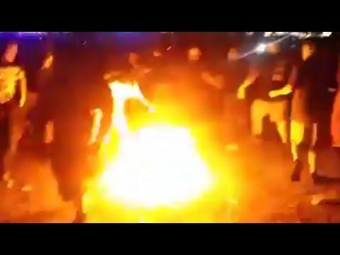 Slipknot Fans Mosh Through Fire At KnotFest Roadshow