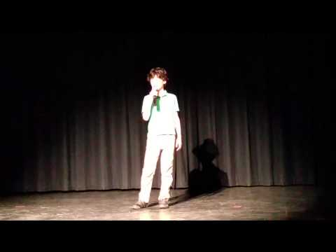 Brandon Sings at the Evergreen School Talent Show