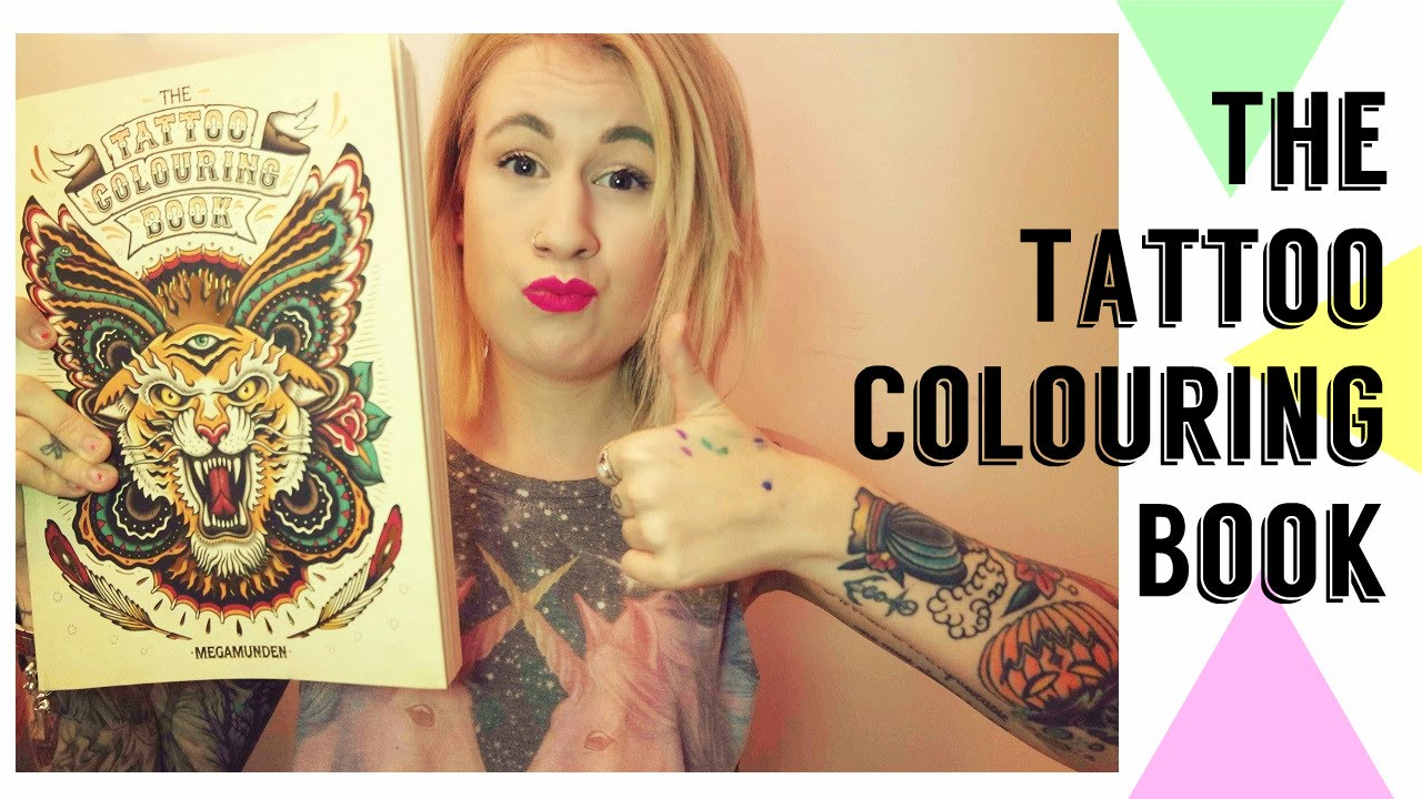 the tattoo colouring book megamunden review - Tattoo Coloring Book