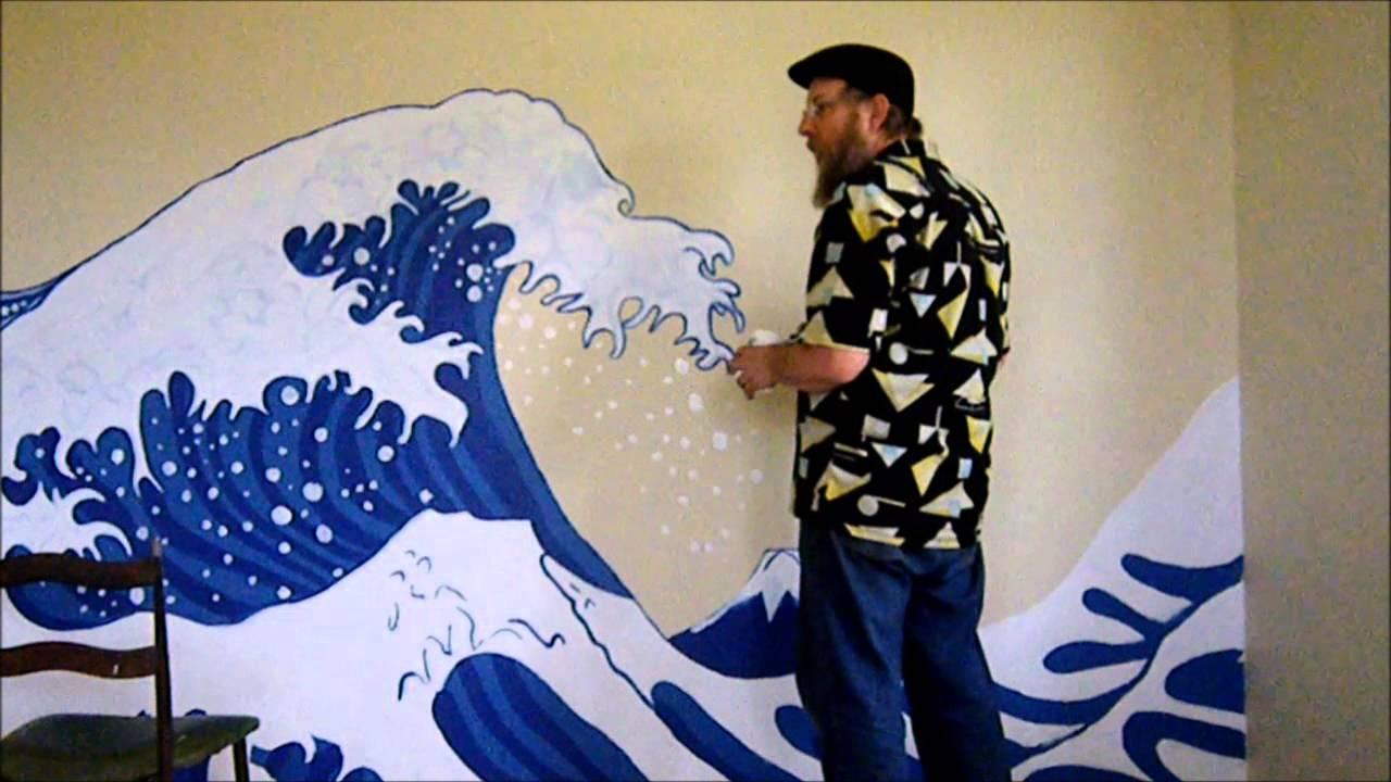 Mural the great wave off kanagawa youtube mural the great wave off kanagawa amipublicfo Choice Image