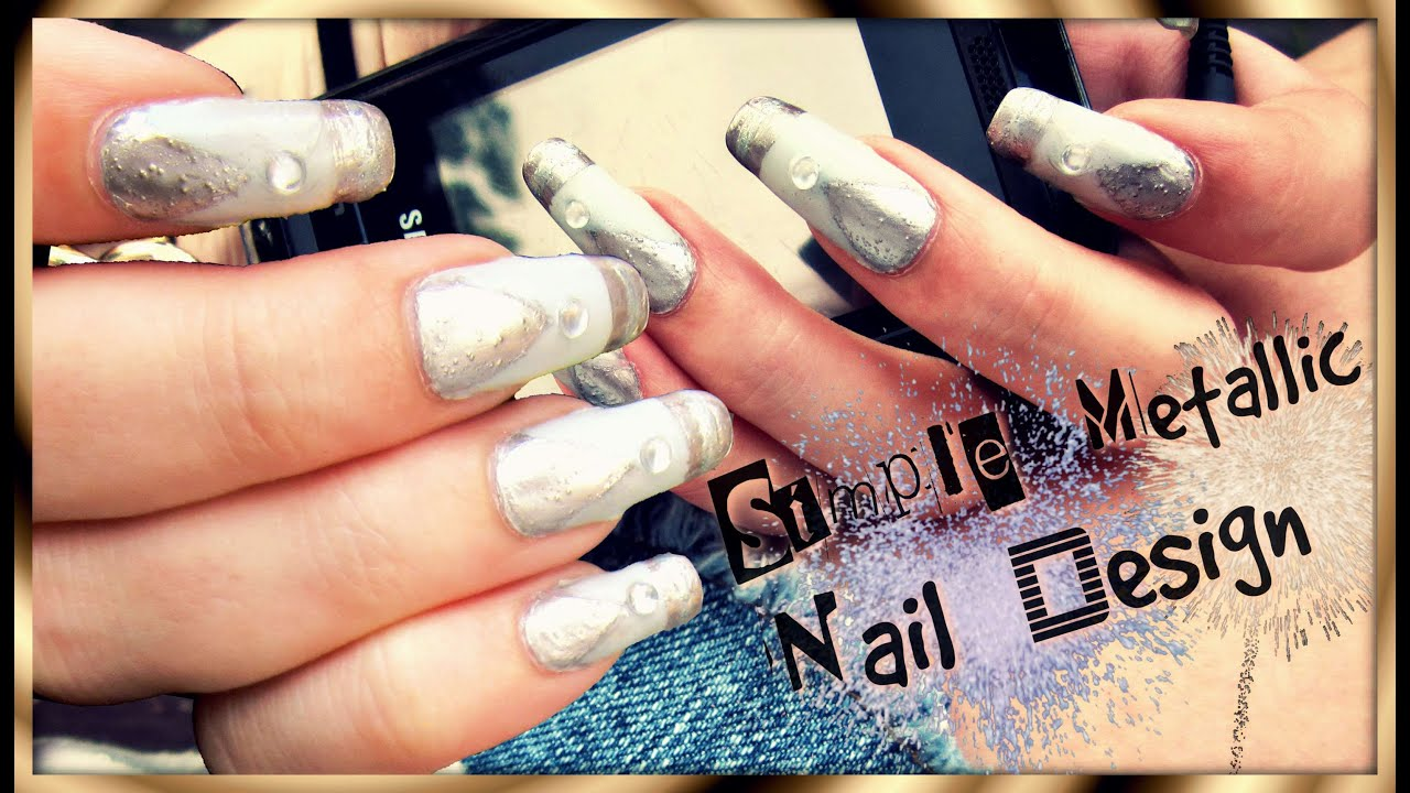 Nageldesign | Glamouröses Matt Taupe & Metallic | Silvester-Party ...