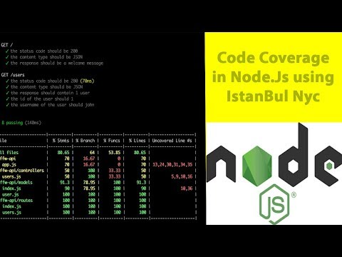 Code Coverage In Unit Testing Using Istanbul(nyc)