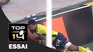 top 14 - Essai Fritz Lee asm - Clermont - Racing 92 - Demies - Saison 2016/2017