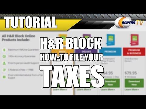 H&R Block Tax Tutorial - Newegg TV