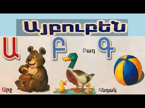 Armenian Alphabet (phonetic Sounds) - Armenian Letters Aybbenaran - Hayeren Aybuben - Այբուբեն