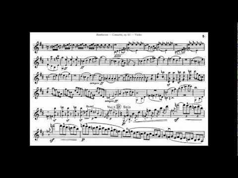 Beethoven, L. van mvt1 part1 violin concerto