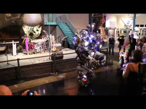 Robots Dance At Ball Moscow Russia
