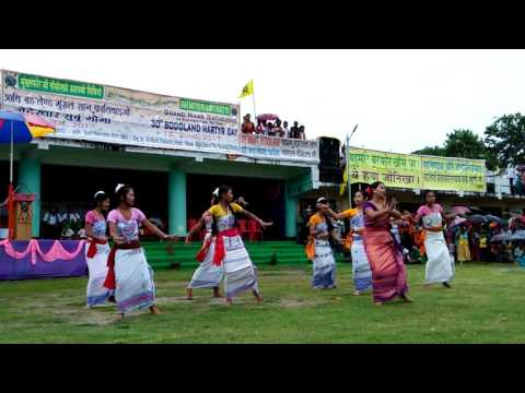 30th Bodoland Martyr day at bijni, Leading by RINKUMANI NARZARY dancing