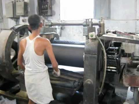 Rubber Mixing Mill Video Avi Youtube