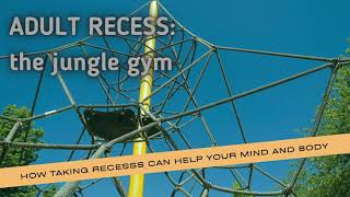 Adult Recess on the jungle gym