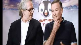 Interview with Happy Feet 2 star Robin Williams and director George Miller