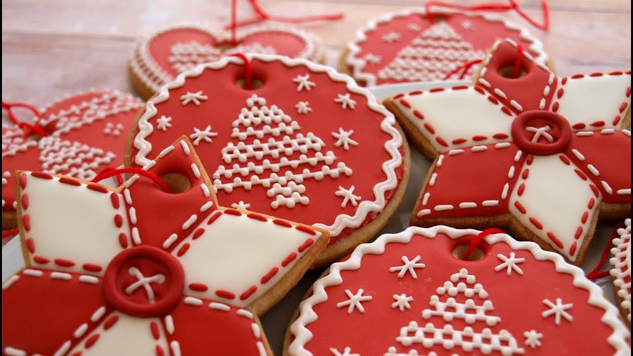 how to decorate christmas cookie ornaments day 3 of the 12 days of christmas youtube - Decorated Christmas Sugar Cookies