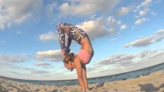 Yoga Handstand: Adho Mukha Vrksasana By The Beach