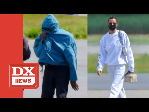 Kanye West Covers His Face Following Birthday Blitz With Model Irina Shayk