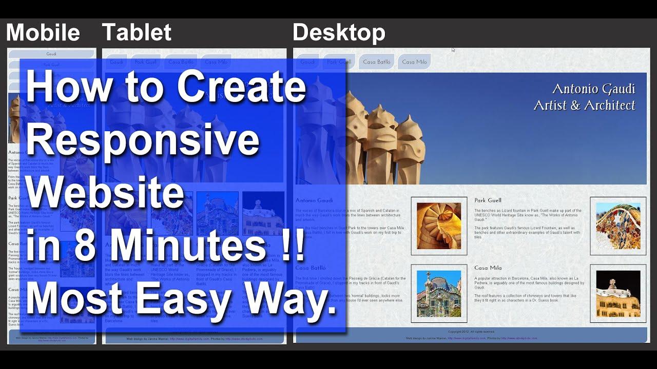 Make website responsive dreamweaver