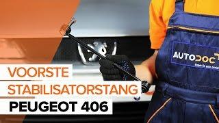 Hoe een Stabilisatorstang vooraan op een PEUGEOT 406 vervangen HANDLEIDING | AUTODOC