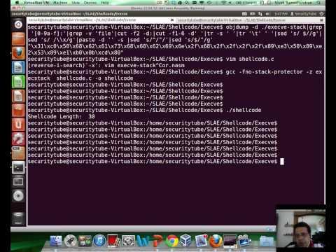 [SecurityTube.net] Execve Shellcode Stack Method