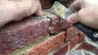 Repair loose foundation bricks