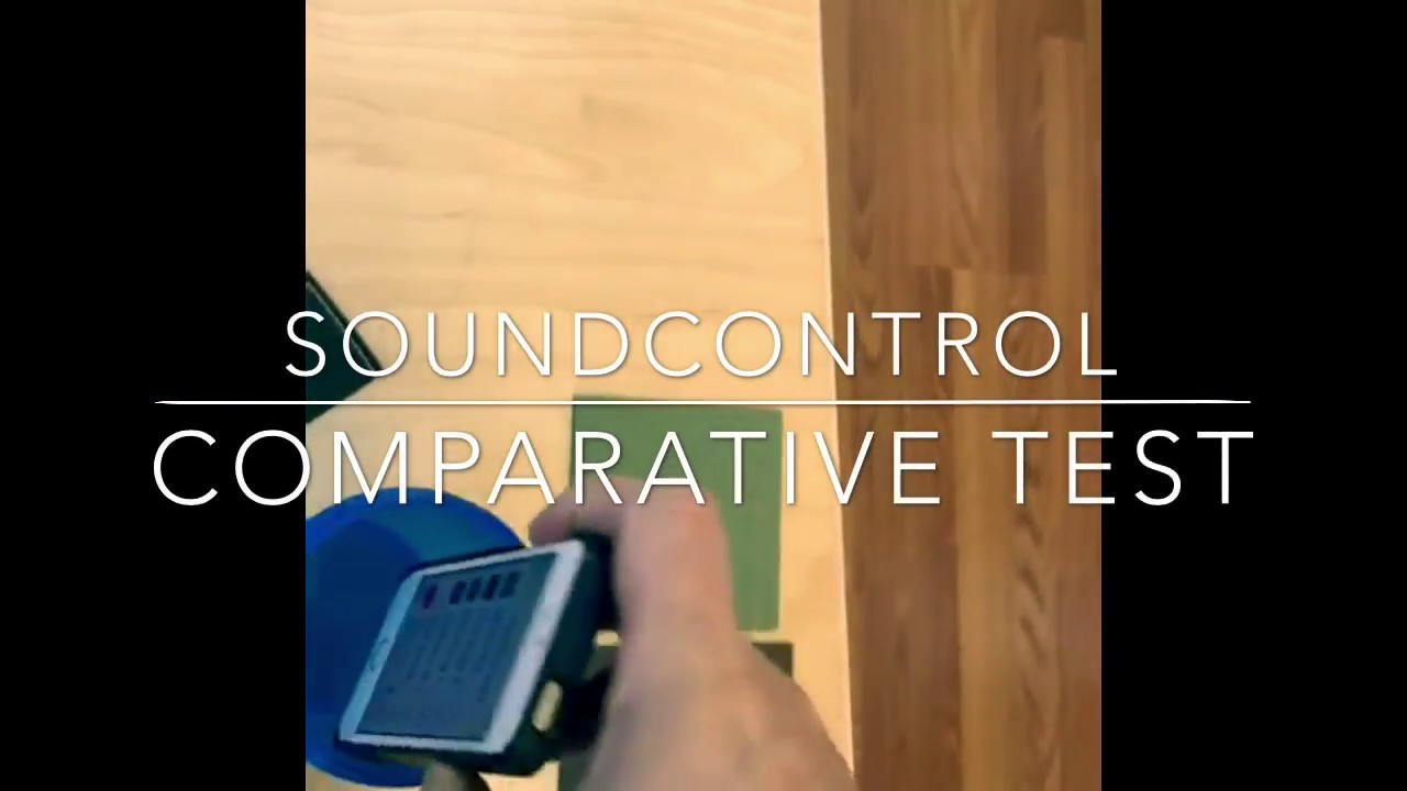 Sound insulation comparative test for wood floor underlayments
