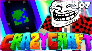 "Minecraft CRAZY CRAFT 3.0 SMP - ""HOUSE DESTRUCTION PRANK"" - Episode 107"