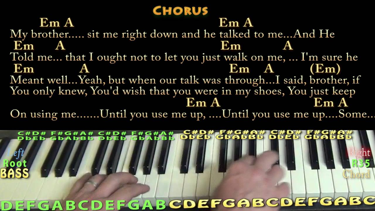 Use me bill withers piano cover lesson with chordslyrics youtube use me bill withers piano cover lesson with chordslyrics hexwebz Image collections