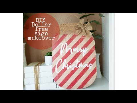 DIY DOLLAR TREE CHRISTMAS SIGN