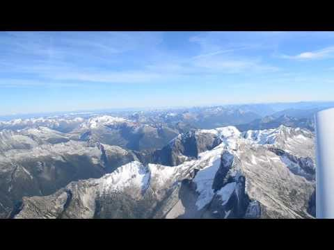 Aerial View of Purcell Mountains - BC Kootenays from 11,000 ASL