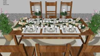 DS100 - Dining Table Set Woodworking plans - Outdoor Furniture Plans Free