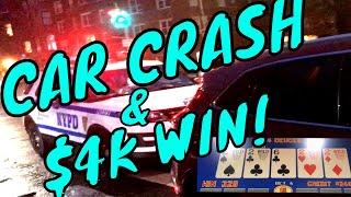 Crashed My Dads New Car. WON $4K. (Gambling Vlog #32)