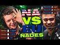 CS:GO - NA PRO NADES VS EU PRO NADES(Who Is Better?)
