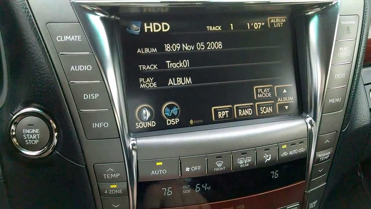 Lexus LS460 Executive Seat Package-HDD Audio Demo - YouTube