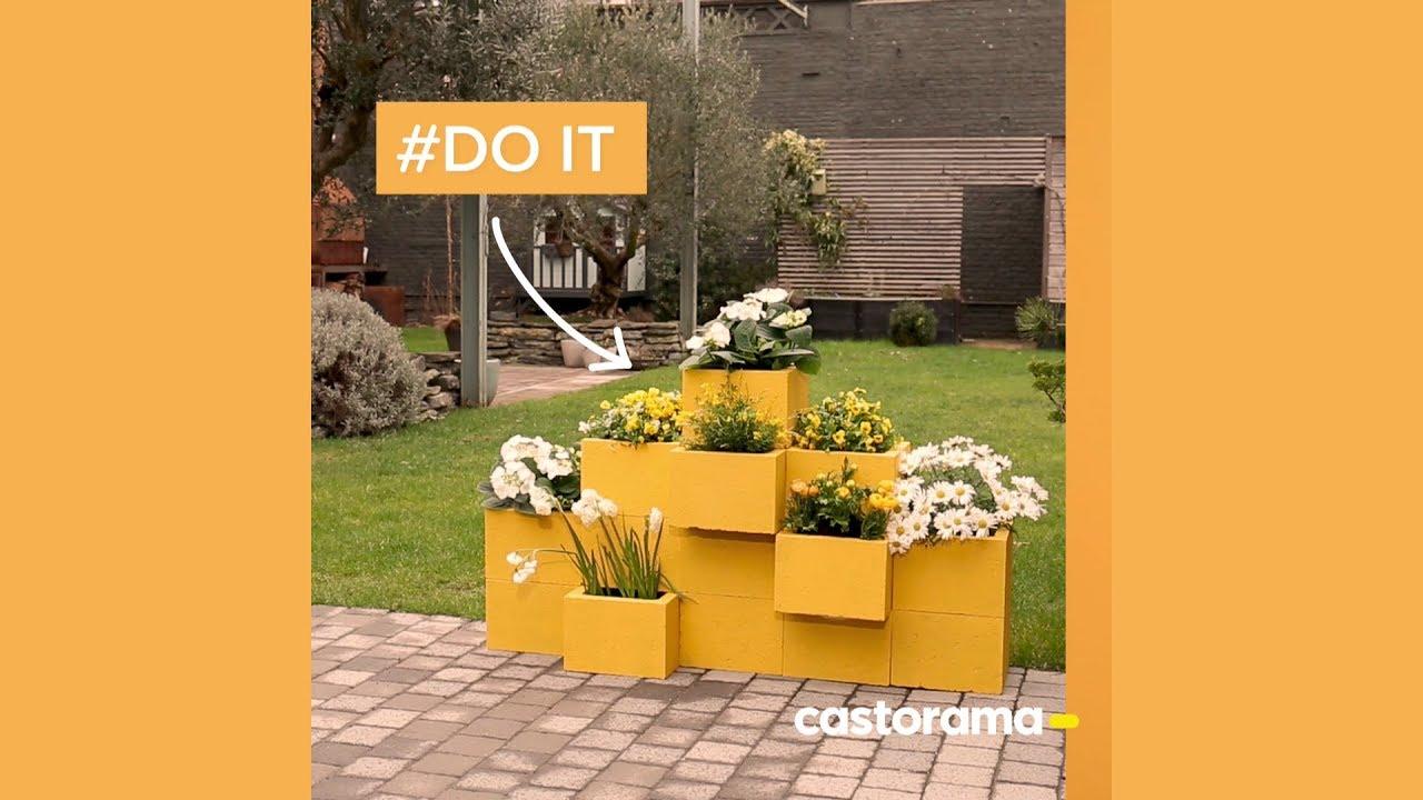 diy cr er des jardini res en b ton castorama youtube. Black Bedroom Furniture Sets. Home Design Ideas