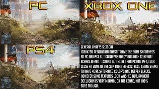 Battlefield 4 XBOX ONE vs PS4 vs PC - Next Gen Graphics Test - HD Gameplay