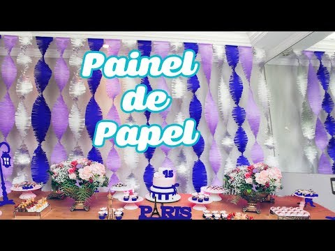 How to Make CREPOM PAPER Panel for 15 YEARS PARTY | Birthday party decoration