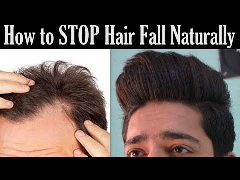 How to STOP Hair Fall Naturally   Grow Hair Faster (Men & Women)
