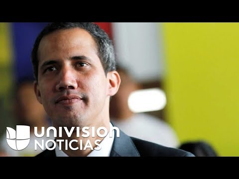 El presidente interino de Venezuela Juan Guaidó envió un mensaje de agradecimiento a Trump