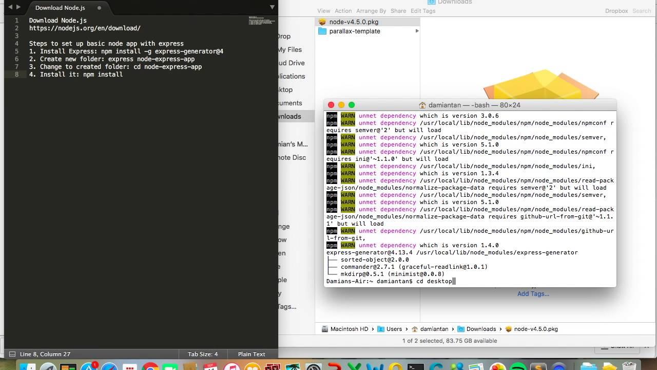 Node.js Tutorial 1: Set up Node.js with Express - YouTube