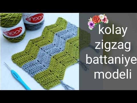 tığişi kolay zigzak battaniye yapımı 🍀💝 zigzag bebek battaniyesi #kolay #örgü #tığişi #bebek #zigzag