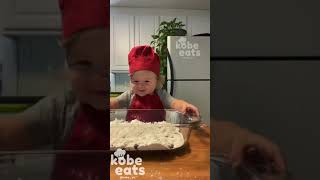 CHEF KOBE MAKES BLUEBERRY COBBLER