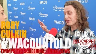 rory culkin david thibodeau interviewed at paramount networks wacountold fyc screening emmys