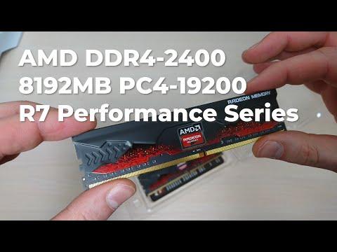 Оперативна пам'ять AMD DDR4-2400 8192MB PC4-19200 (Kit of 2x4096) R7 Performance Series (R7S48G2400U1K)