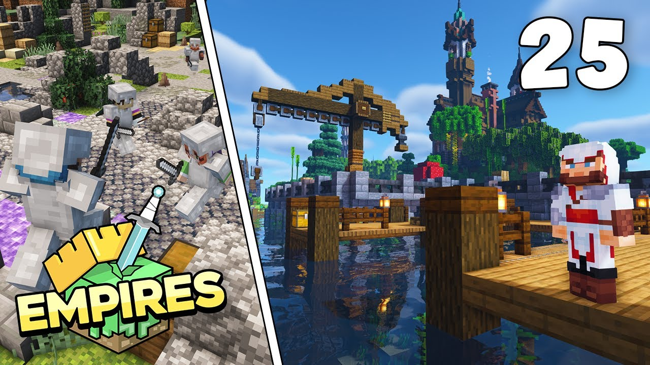 Empires SMP - THE MYTHLAND DOCKS & PVP ARENA!!! - Ep.25 [Minecraft 1.17 Let's Play]