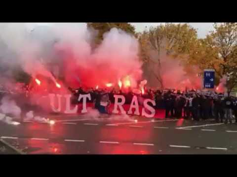 """ANGERS VS PSG """" AMBIANCE DU CUP / PYRO / ULTRAS PSG ..."""