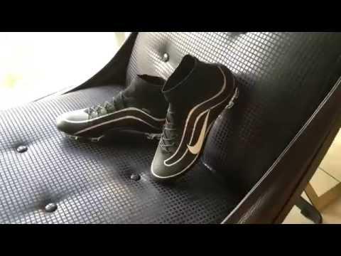 00d90778f Chuteira Nike Black Nike Mercurial Superfly Heritage FG 2016 - YouTube