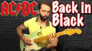 AC/DC Back in Black Nasıl Çalınır? Guitar Lesson Guitar Tutorial El...