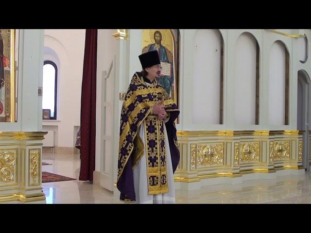 Проповедь отца Александра в Праздник Воздвижения Креста Господня 27.09.2021