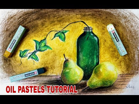 How do use oil pastels- still life tutorial for beginners and kids